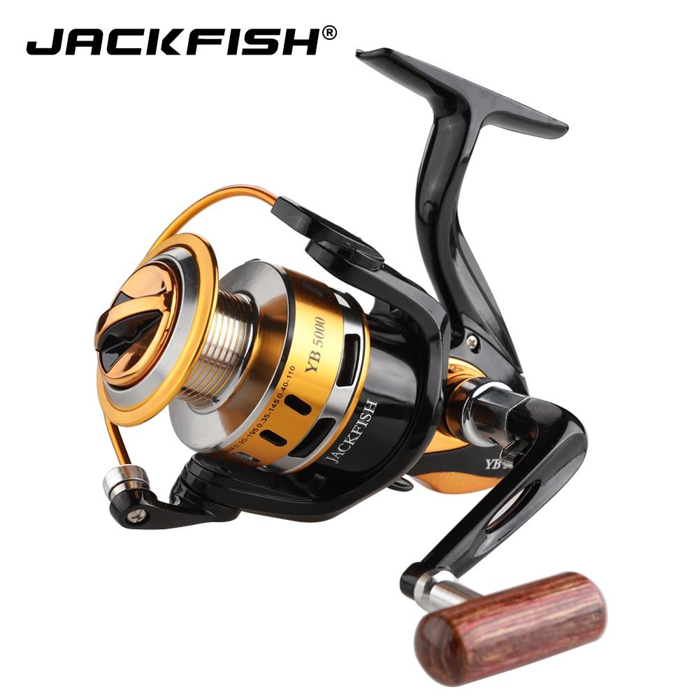 JACKFISH Fishing Reel 12BB Bearing Balls 2000-5000 Series Spinning Reel carpa molinete de pesca spinning fishing wheel
