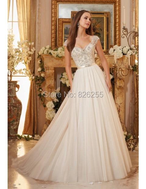 Высокий корсет в свадебных платьях