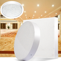 LED downlight Panel Light No strobe 85 265V 30W 110V 220V Square Round ceiling lamp LED Surface Mounted with Driver
