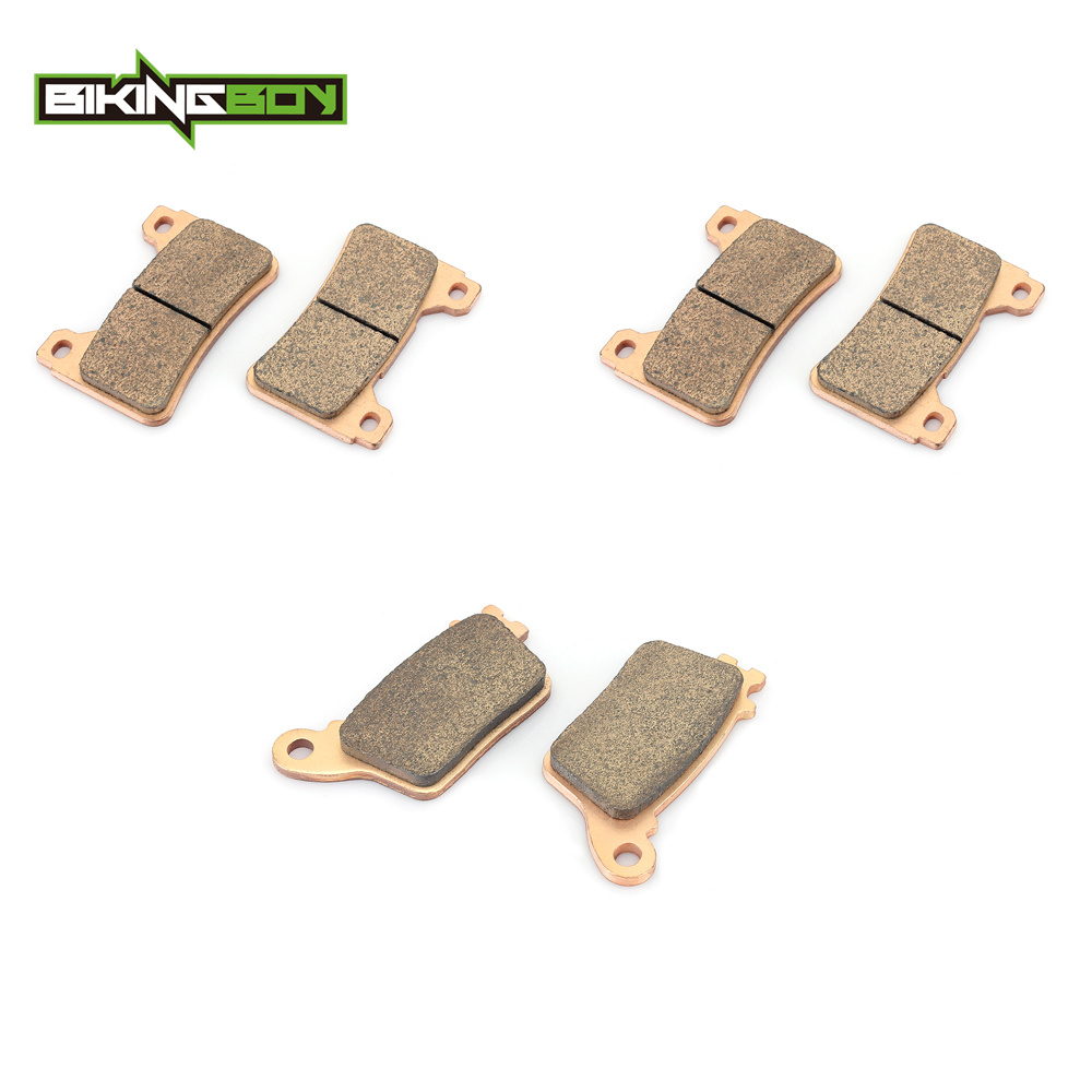 BIKINGBOY Motorcycle New Full Set Front Rear Brake Pads for HONDA CBR 600 RR CBR600RR 2007 2015 2008 2009 2010 2011 2012