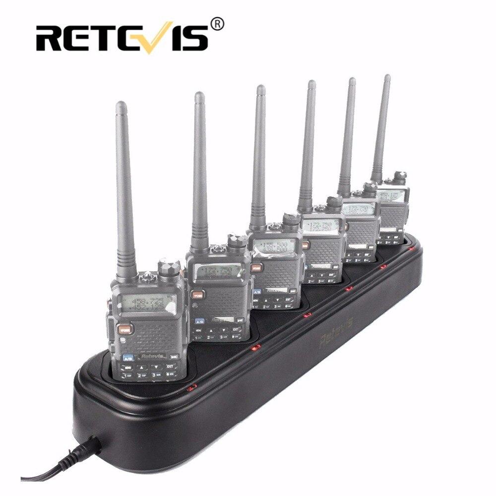 Nouveau retevis r-611 rapide coffre six-façon chargeur unique-rangée radio/chargeur de batterie pour baofeng uv-5r uv5r talkie walkie retevis rt-5r