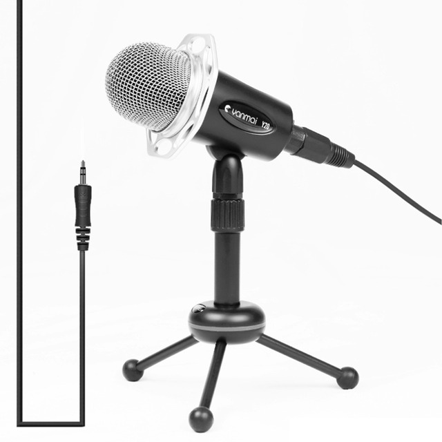 Hot New 3.5MM Home and Office Portable Microphone Noise Reduction Smart Phone Microphone For Chatting & K Song For iPhone Black