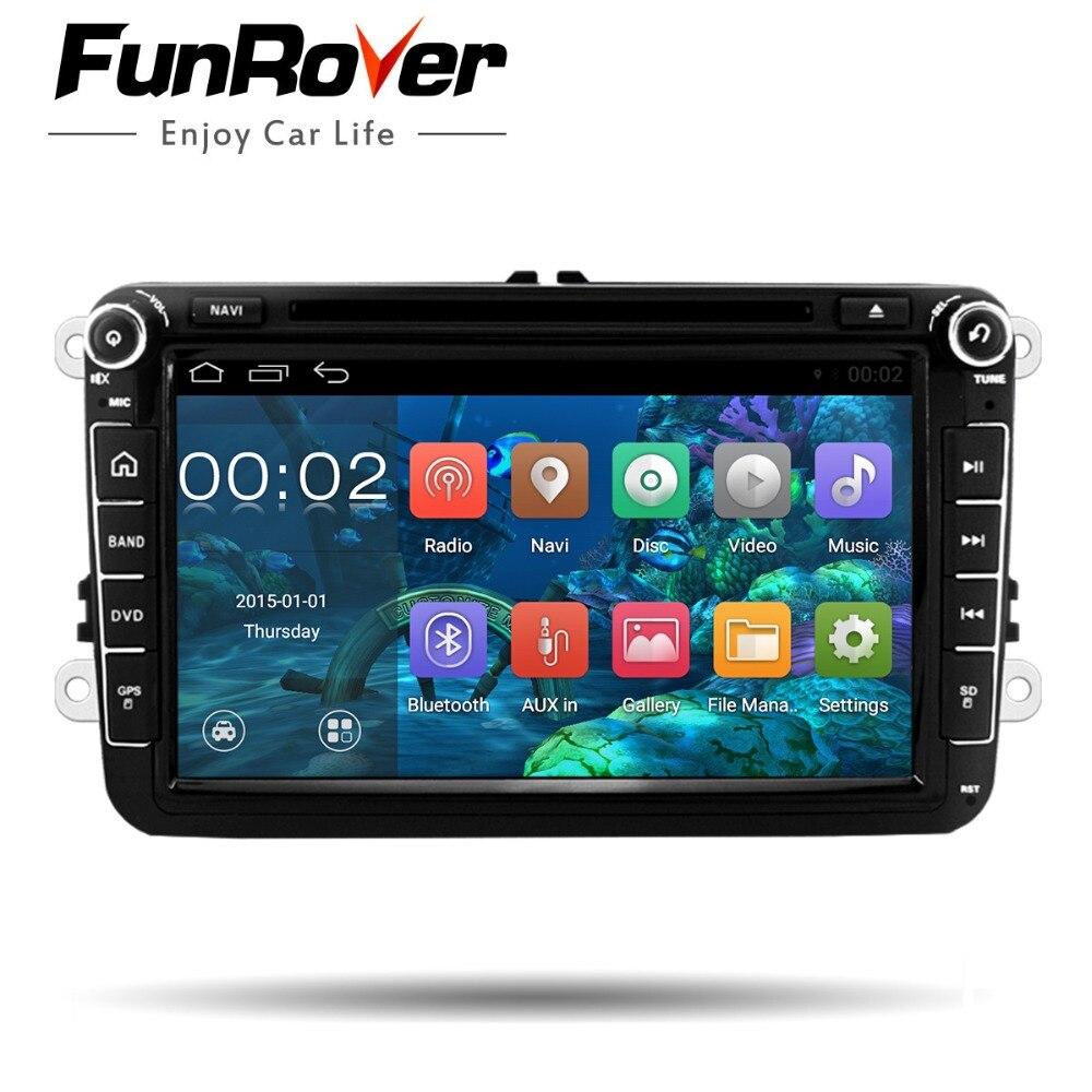 Funrover 2 Din 8 ''autoradio pour Volkswagen VW golf 6 touran sharan Lavida polo passat B7 jetta avec GPS voiture lecteur DVD