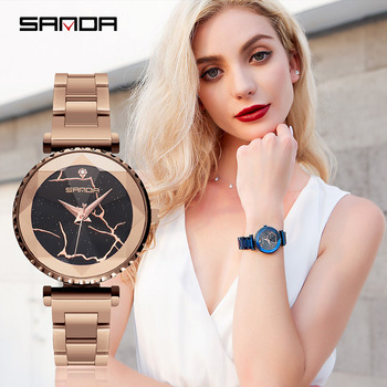 2019 quartz wrist watches for women stylish Purple blue black rose gold stainless steel watch luxury female watch waterproof super speed v6 v0180 racer quartz movement wrist watch for man black brown white
