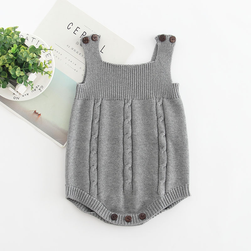 Gray rompers