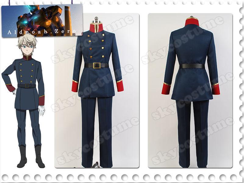 Aldnoah.Zero Slaine Troyard Cosplay Mars Orbital Knights Uniform Costume Outfit Halloween Carnival Full Set mars pattern warhound titans full set f006