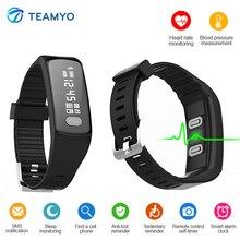 Teamyo HB07 часы кровяное давление Шагомер Браслет фитнес-трекер активности монитор cardiaco смарт-браслет для iOS и Android
