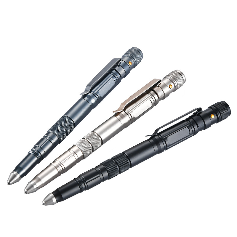 New Outdoor Survival EDC Tool Multi-Function Self Defense Tactical Pen Emergency Kit With Led Light Strobe Glass Breaker Gifts