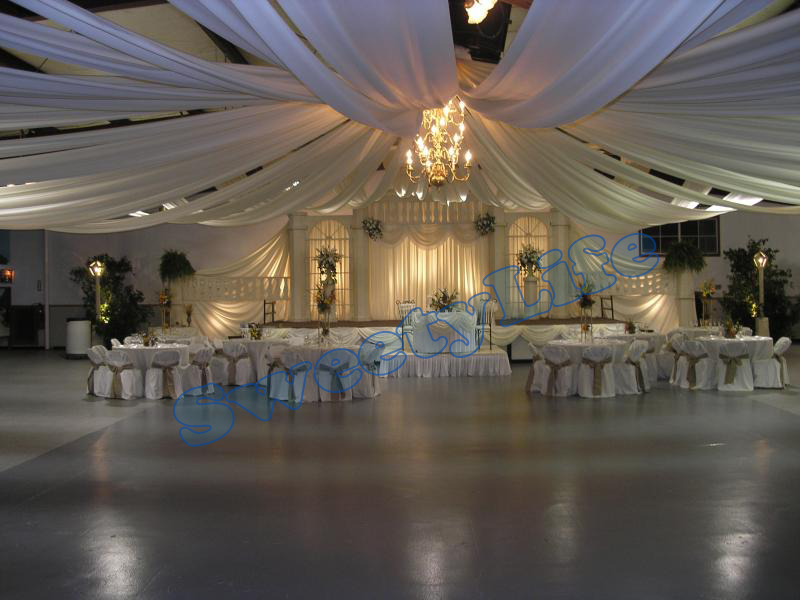 mariage 10 peas plafond drap canopy draperie pour dcoration de mariage tissu 07 m 10 - Drap Plafond Mariage