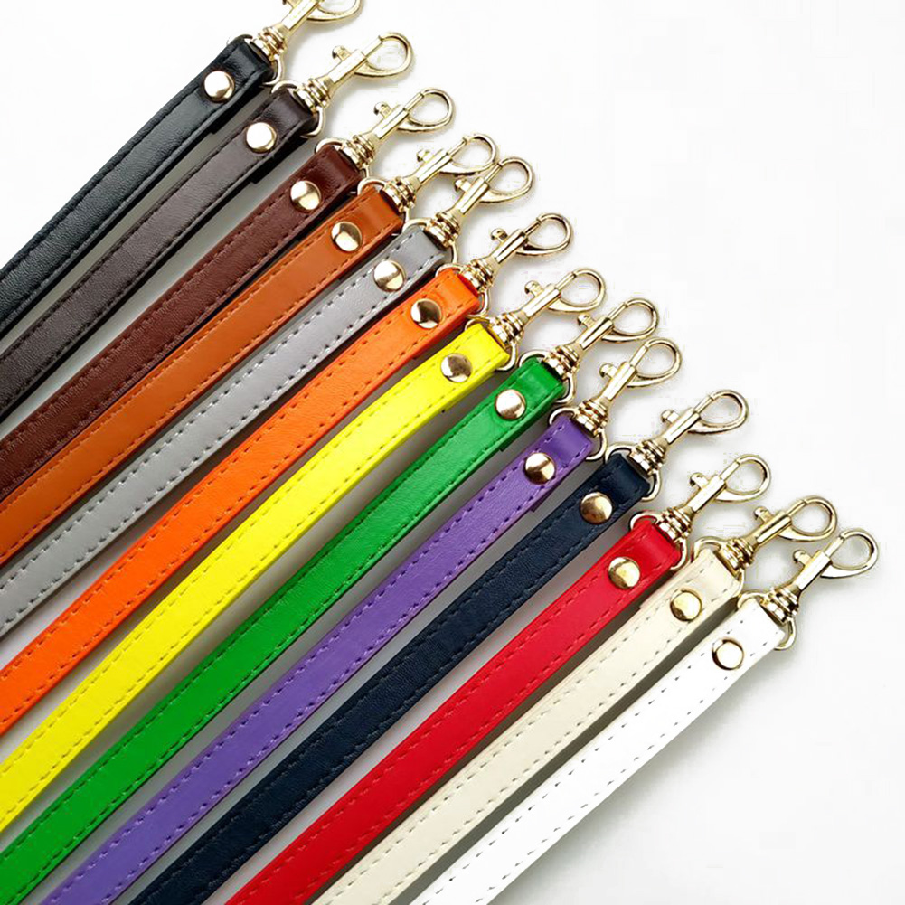 Fashion Women Solid Color Adjustable Handbag DIY Handle PU Leather Strap Buckle Shoulder Bag Accessories Long Belts 120 Cm