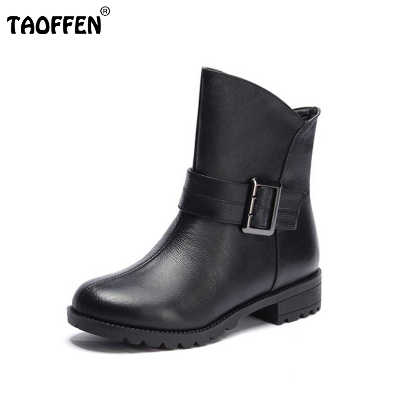 women real genuine leather martin flat ankle boots woman half short botas autumn winter boot footwear shoes R7530 size 34-39 women ankle boots handmade genuine leather woman boots autumn winter round toe soft comfotable retro boot shoes female footwear