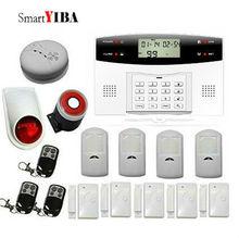 SmartYIBA Wireless Home Security Alarmes Remote Control Smoke Alarm Detector 433Mhz Door Magnetic Sensor PIR Motion Alarm