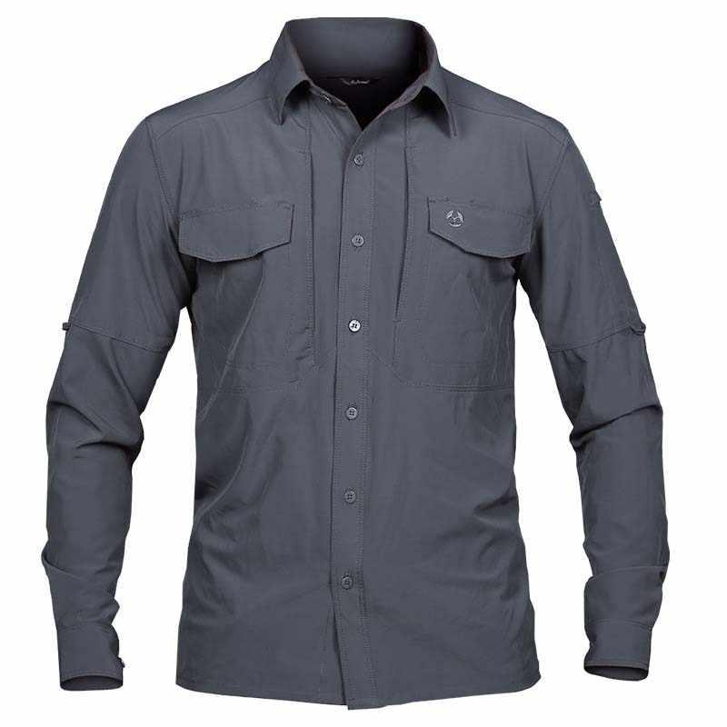 608089af11e ... MAGCOMSEN рубашки Для мужчин лето быстросохнущая рубашки с длинным  рукавом в стиле милитари Стиль тактический бой ...