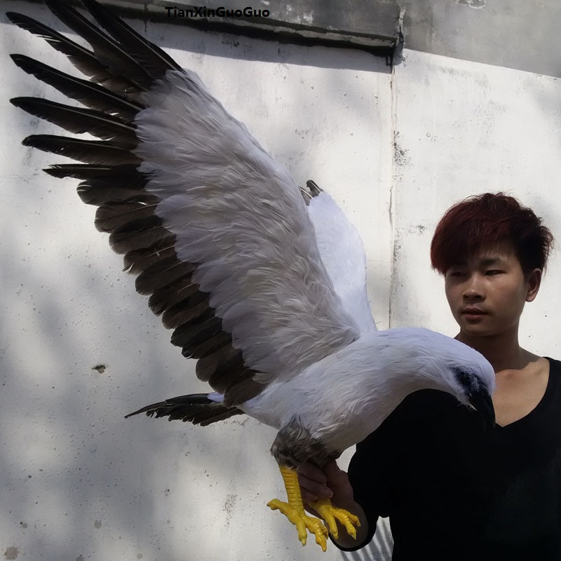 large 45x100cm simulation gray&white eagle spreading wings bird model polyethylene&feathers bird handicraft decoration s1113large 45x100cm simulation gray&white eagle spreading wings bird model polyethylene&feathers bird handicraft decoration s1113