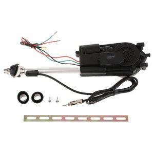 Image 1 - 1 セットステンレス鋼車のアンテナキットオートアンテナアクセサリー電力黒 12V サポート AM/FM ラジオ