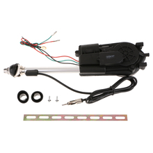 1 Juego de accesorios de antena de coche de acero inoxidable, accesorios de antena de automóvil, energía eléctrica negra, 12 V, soporte de Radio AM/FM