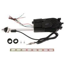 1 Set Edelstahl Auto Antenne Kit Auto Antenne Zubehör Elektrische Power Schwarz 12V Unterstützung AM/FM Radio