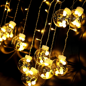 Image 5 - Fairy Garland LED Ball String Lights For Wedding Christmas Birthday Party Festival Decor LED Lights Decoration Curtain Lights