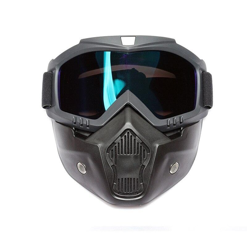 VIRTUE motociklų kaukė Motokroso motociklų variklio atviri veido nuimami apsauginiai kaukės