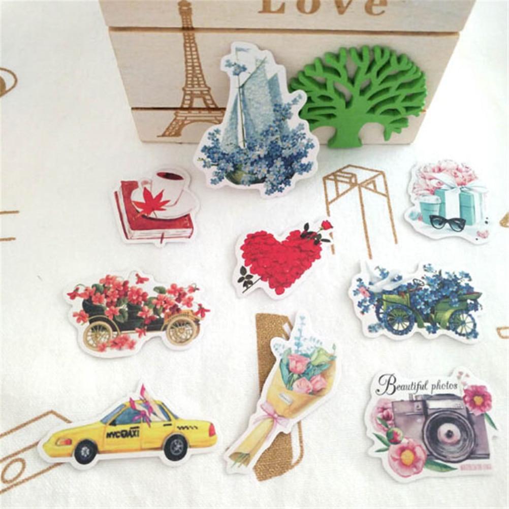 36 Pcspack  Decorative Stickers Watercolor Stickers Cute Cartoon Animal DIY Creative Hand Painted Diary Album