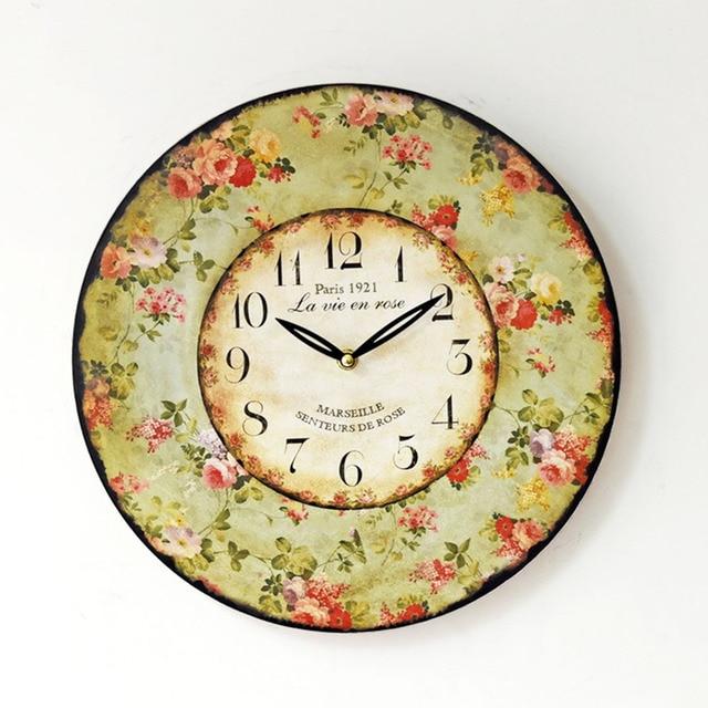 Vintage Wall Clock Antique Modern European Style Vintage Creative ...