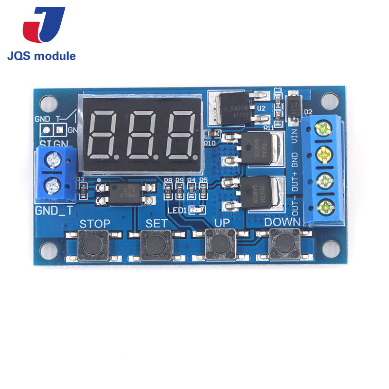 Trigger Cycle Timer Delay Switch 12 24V Circuit Board Dual MOS Tube Control Module dc 5 36v dual road mos tube module dc12v 24v trigger cycle timing delay switch circuit for controlling motor lights led etc