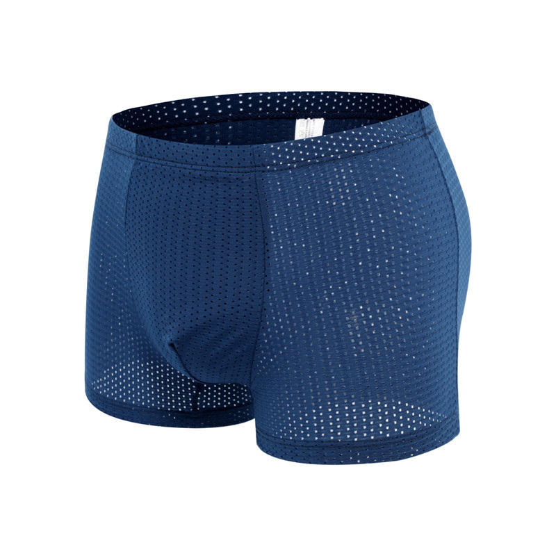 Nice Price Men's Big Boxer Shorts Sexy Ice Silk Bamboo Fiber Breathable Mesh Youth Boxer Short Summer
