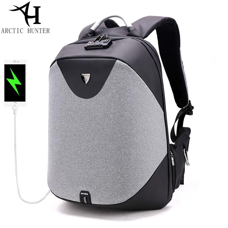 Для мужчин рюкзак с USB зарядка порты и разъёмы водостойкий 15,6 ноутбук путешествия бизнес USB Bagpack мужской школьников сумки для обувь
