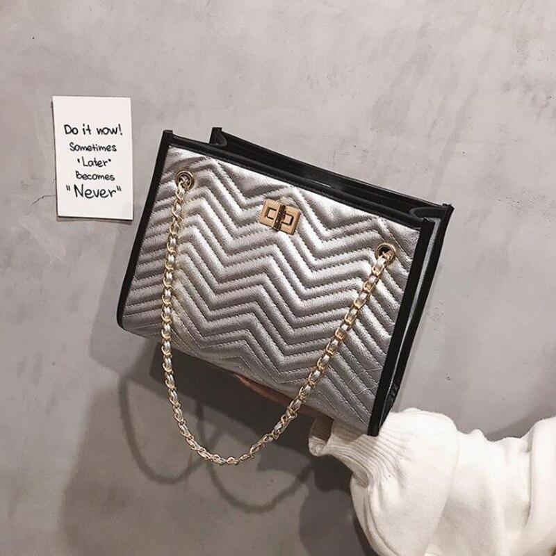 tout L8 Bandoulière blanc Sac Casual Canaux Noir or 400 Sacs En Femmes Grand Fourre À Main Luxe Marque argent Épaule Designer Pour De Cuir Chaîne xa8Hfxq