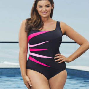 Women Monokini One Piece Swimwear Plus Size Beachwear Push-Up Swimming Wear Swimsuit