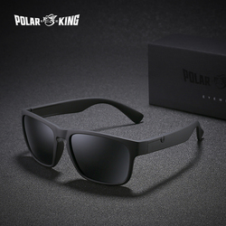 Gafas de sol polarizadas de marca POLARKING para hombre gafas de sol de plástico de moda para hombre gafas cuadradas de viaje gafas de sol