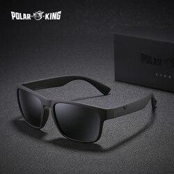 POLARKING Marke Polarisierte Sonnenbrille Für Männer Kunststoff Oculos de sol männer Fashion Square Fahren Brillen Reise Sonne Glas