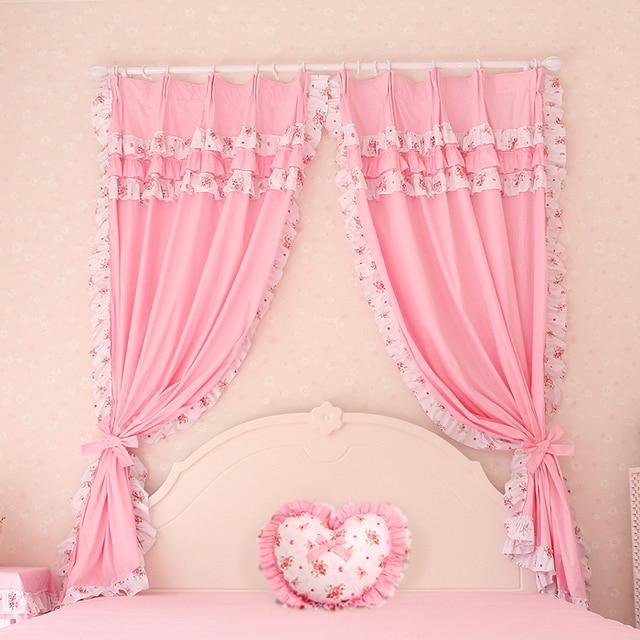 marca de moda de la princesa cortinas de estilo para sala de estar ventana escarpada cortinas para nios nias cortinas decoracin envo gratis
