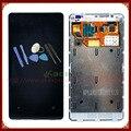 Para nokia lumia 800 lcd display + pantalla táctil full set completo con marco + herramientas gratuitas envío gratis