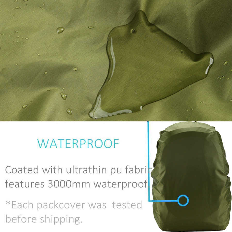 35L 45L 50L 60L 70L Wasserdichte Rucksack Regen Abdeckung Regenschutz für Rucksack Rucksack Tasche für Reisen Camping Im Freien Klettern
