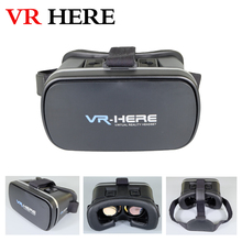 3D VR HERE 2016 Virtual Reality Headset Healthy Bule Ray HD 3D Glasses+Smart bluetooth gamepad Removable Cleaning for Smartphone