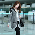 Hot Sale 2016 New Fashion  Jacket for Lady Popular in Spring  Autumn Outerwear Casual  Winter Middle Long Sweater Cardigan A159