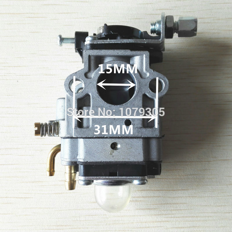 1E40F-5/1E44-5 430 42.7cc/49.3cc brush cutter mowing machine 15mm grass trimmer carburetor 3set brush cutter carburetor gasket kit and primer bulb needle 40 5 44f 5 34f 36f 139f gx35 grass trimmer carburetor repair kit