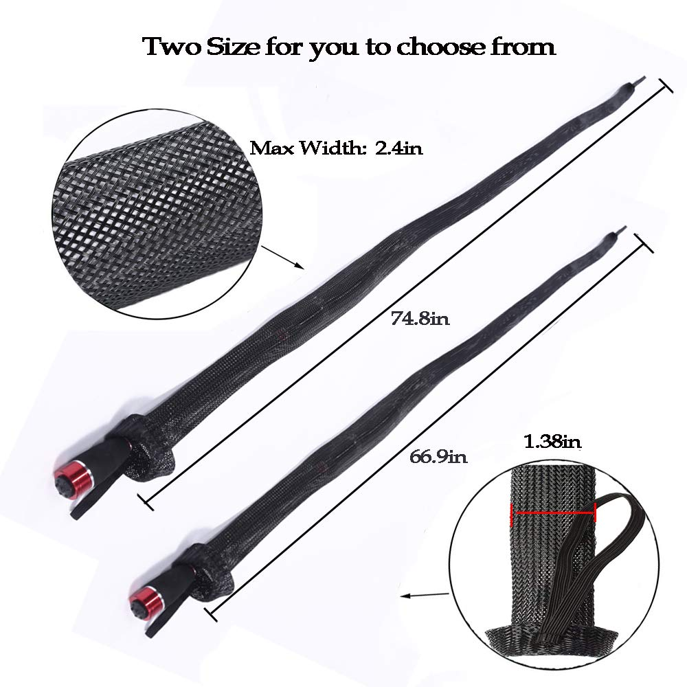 ZHENDUO OUTDOOR 10Pcs Fishing Rod Sleeve Rod Socks 67 74 8 Rod Covers Braided Mesh Rod Protector Fishing Tools Accessories in Fishing Tools from Sports Entertainment