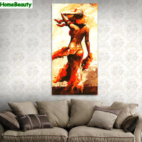 Home Beauty 40 80 Diy Oil Picture By Numbers Modular Painting Calligraphy For Living Room Adult