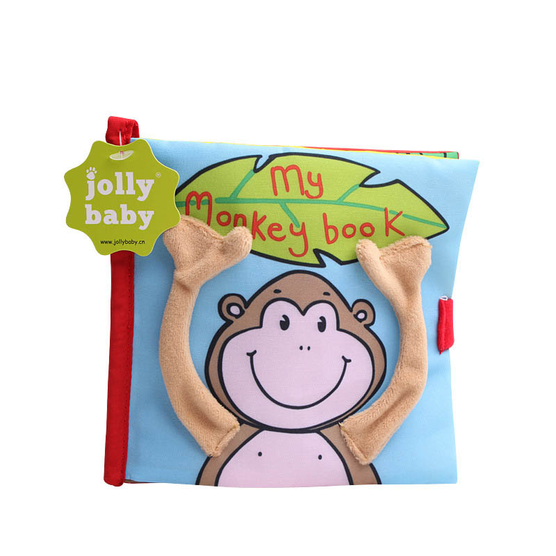Baby peekaboo monkey cloth book infant early childhood education toy stereo tear not bad cloth book suitable for 0-18 months