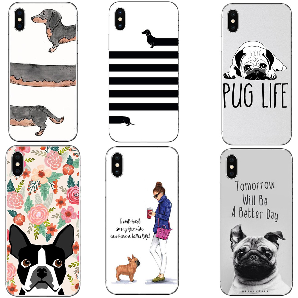 Phone Pouch Boston Terrier Watercolor Hard Cover For Iphone 5 5s Se 6 6s Plus 7 7plus 8 8plus Bulldog Phone Case For Iphone X Cellphones & Telecommunications