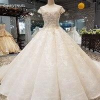 LS07314 свадебный халатформы кривой юбка бальный наряд нарядное платье 2018 Круглая горловина с коротким рукавом see through открытой спиной торжест