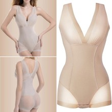 Lady Slimming Burn Fat Briefs Shapewear Tummy Slim Bodysuit Full Body Shaper Slimming Underwear Vest Bodysuits Jumpsuit L-XXL