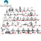 <+>  GLOWCAT 21861 Старинные Металлические Спортивные Подвески Изготовление Ювелирных Изделий DIY Бокс  ★