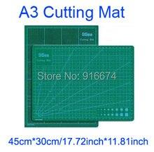 ¡ Nuevo! Base de corte A3 45*30 cm 17.72 pulgadas * 11.81 pulgadas PVC 3-capa de Corte Duradero Pad Alta Auto-curación de Doble cara Estera de Corte