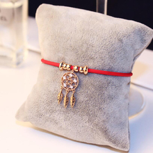 Leaf Feather Multilayer Bracelet Round For Women Children Red Thread Line Rope Trendy Adjustable Handmade
