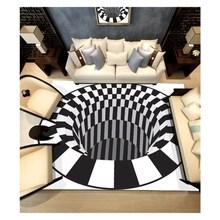 Современный прямоугольный акриловый большой ковер для гостиной, спальни, черный Дизайнерский ковер в виде ловушки для спальни, модный коврик на заказ