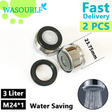 Tap-Accessories Faucet-Aerator Water-Saving M24 Bubbler WASOURLF 24mm Male Thread 2pcs