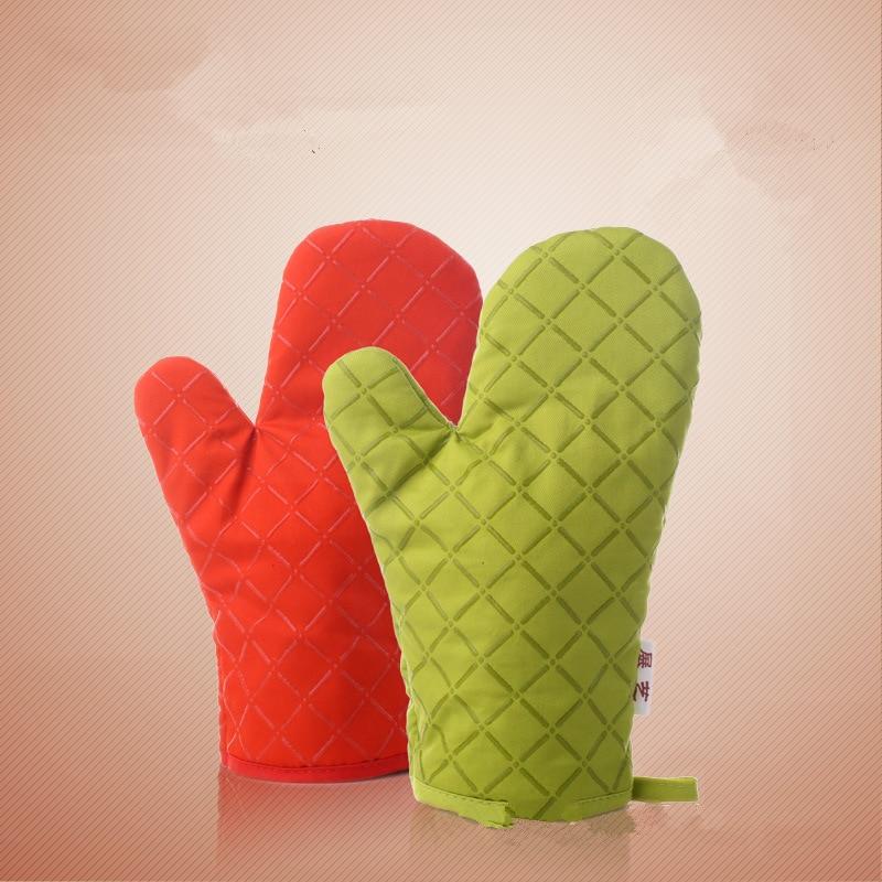 მწვანე წითელი ღუმელის შერბილება საცხობი ხელთათმანები შესაფერისი საცხობი სახლის დასამზადებლად 1 სუფთ / ლოტი